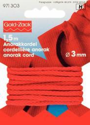 Anorak cord 3mm red                 1,5m, 4002279154077
