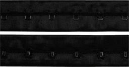 Haken- und Augenband mit Abst. 19 mm schwarz, 4002279153100