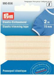 Elastic-Einfassband 15mm beige, 4049909956564