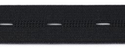 Knopfl Elastic 25mm schwarz 10m, 9002301002296