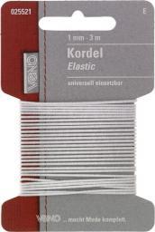 Elastic Kordel SB 1mm weiß, 4028752072058