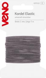 Elastic Cord Self-Service 1mm Light Gray, 4028752072065