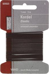 Elastic Kordel SB 1mm braun, 4028752072072