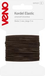 Elastic Cord Self-Service 1mm Brown, 4028752072072