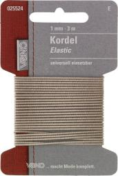 Elastic Kordel SB 1mm beige, 4028752072089