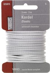 Elastic Kordel SB 3,0mm weiß, 4028752362135