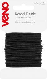 Elastic Kordel SB 3,0mm schwarz, 4028752362142