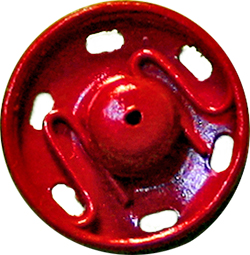 Snap Fasteners MS 13mm red, 8901003789133