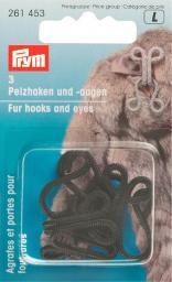 Fur hooks & eyes mild steel black    3pc, 4002272614530