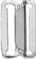 Rockbundverschlüsse ST 25 mm silberfarbig, 4002272673032