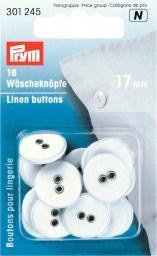 Wäscheknöpfe Leinen 26'' 17 mm weiß, 4002273012458