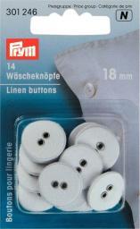 Wäscheknöpfe Leinen 28'' 18 mm weiß, 4002273012465