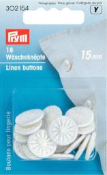 Wäscheknöpfe Zwirn 24'' 15 mm weiß, 4002273021542