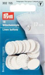 Wäscheknöpfe Zwirn 26'' 17 mm weiß, 4002273021559