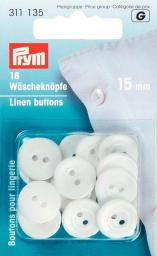 Wäscheknöpfe Kunststoff 24'' 15 mm weiß, 4002273111359