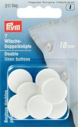 Wäsche-Doppelknöpfe KST 28'' 18 mm weiß, 4002273111960