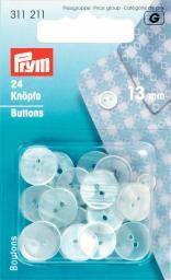 Kittel-/Schlafanzugknöpfe KST 13 mm perlmutt, 4002273112110
