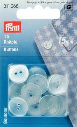 Kittel-/Schlafanzugknöpfe KST 15 mm perlmutt, 4002273112684