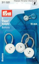 Flexi-Knöpfe mit Schlaufe 15 mm, 4002273115319