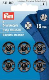 Annäh-Druckknöpfe MS 15 mm schwarz, 4002273411695