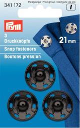 Annäh-Druckknöpfe MS 21 mm schwarz, 4002273411725