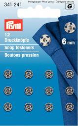 Annäh-Druckknöpfe MS 6 mm silberfarbig, 4002273412418