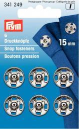 Annäh-Druckknöpfe MS 15 mm silberfarbig, 4002273412494