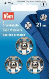 Annäh-Druckknöpfe MS 21 mm silberfarbig, 4002273412524