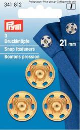 Annäh-Druckknöpfe MS 21 mm goldfarbig, 4002273418120