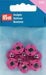 Annähdruckknöpfe Metall 14mm pink, 4002273419059