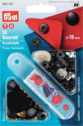 NF-Druckknopf Anorak MS 15 mm schwarz, 4002273903077