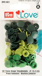 Prym Love ColorSnaps fast.grn12mm   30pc, 4002273930011