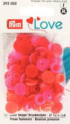Prym Love ColorSnaps fast.red 12mm  30pc, 4002273930028