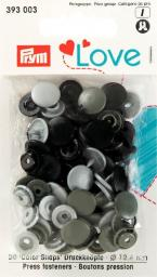 Prym Love ColorSnaps fast.gry 12mm  30pc, 4002273930035