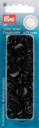 Non-sew ColorSnaps Ø12.4 black      30pc, 4002273931056