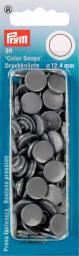 NF Druckkn Color Snaps rund 12,4mm si'grau, 4002273931452