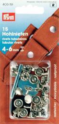 Hohlnieten Klemmber. 4-6 mm MS silberfarbig, 4002274031519