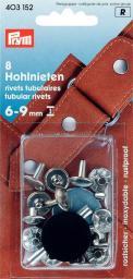 Hohlnieten Klemmber. 6-9 mm MS silberfarbig, 4002274031526