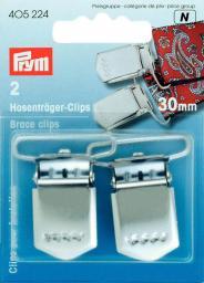 silberfarbig zum Annähen 405220 Prym Hosenträger-Clips 18mm