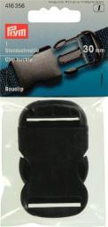 Steckschnalle stark KST 30 mm schwarz, 4002274163562