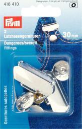 Latzhosengarnituren ST 30 mm silberfarbig, 4002274164101