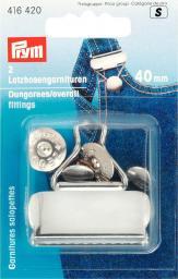 Latzhosengarnituren ST 40 mm silberfarbig, 4002274164200