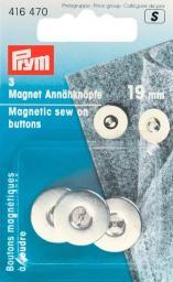 Magnet-Annähknöpfe 19 mm silberfarbig, 4002274164705