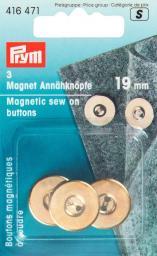 Magnet-Annähknöpfe 19 mm goldfarbig, 4002274164712