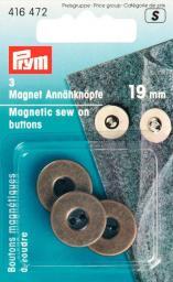 Magnet-Annähknöpfe 19 mm altmessing, 4002274164729