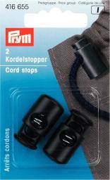 Cord stops 1 hole plastic black      2pc, 4002274166556