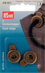 Cord stops zinc die-cast round ant br2pc, 4002274166716