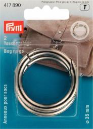 Taschenringe 35 mm silberfarbig, 4002274178900