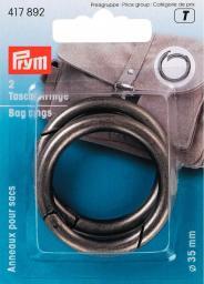 Taschenringe 35 mm altsilber, 4002274178924