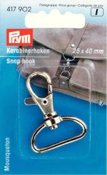 Snap hook 25/40mm silver-col.        1pc, 4002274179020